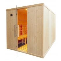 Cabina de sauna con infrarrojos, bancos paralelos - uso comercial - 8 personas - IR4030
