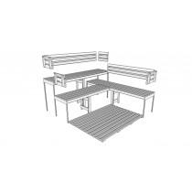 Bancos, respaldos y tablillas de suelo para sauna - Kit D3030