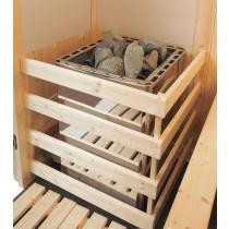 Protector para calentador de sauna, uso comercial intensivo, con patas