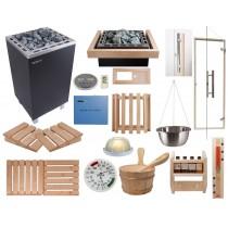 Kit sauna Celebration OCSB - Material para la instalación de su sauna finlandesa, calentador con mando a distancia  Oceanic Saunas