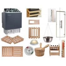 Kit sauna Celebration BIC - Material para la instalación de su sauna finlandesa, calentador con mando integrado Oceanic Saunas