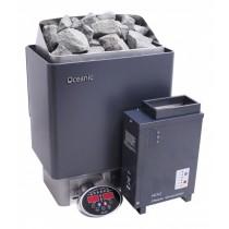 Saunarium: calentador de sauna 6kW combinado con un mini generador de vapor 1kW