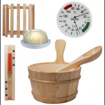 Conjunto de accesorios para sauna