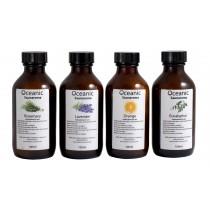 4 botellitas de aromas para sauna