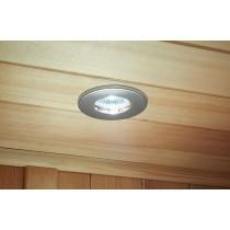 Iluminación para sauna finlandesa: focos emportables ignífugos