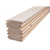 Tarima de abeto para revestimiento de sauna finlandesa - machihembrado - 18mm