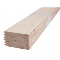 Tarima de abeto para revestimiento de sauna finlandesa - machihembrado - 9mm