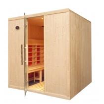 Cabina de sauna infrarrojos - 6 personas - bancos paralelos - IR2530