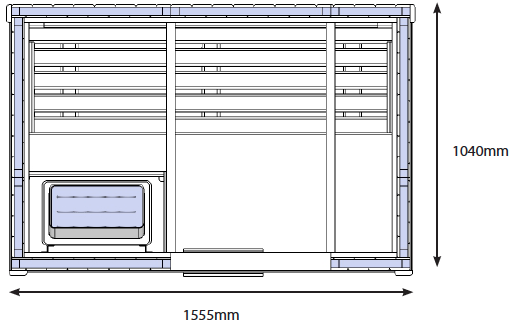 D1525 Home Traditional Sauna Cabin Technical Drawing