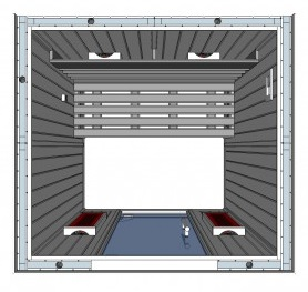 IR2020 2 person Home Infrared Sauna Technical Drawing