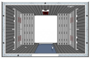 IR2030 4 person Home Infrared Sauna Technical Drawing