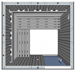 IR2525 L 4 person Home Infrared Sauna Technical Drawing