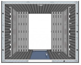 IR2530 6 person Home Infrared Sauna Technical Drawing