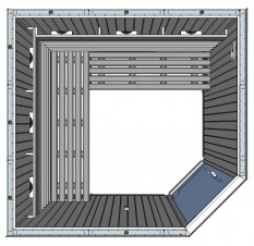 IR3030 4 person Home Infrared Sauna Technical Drawing