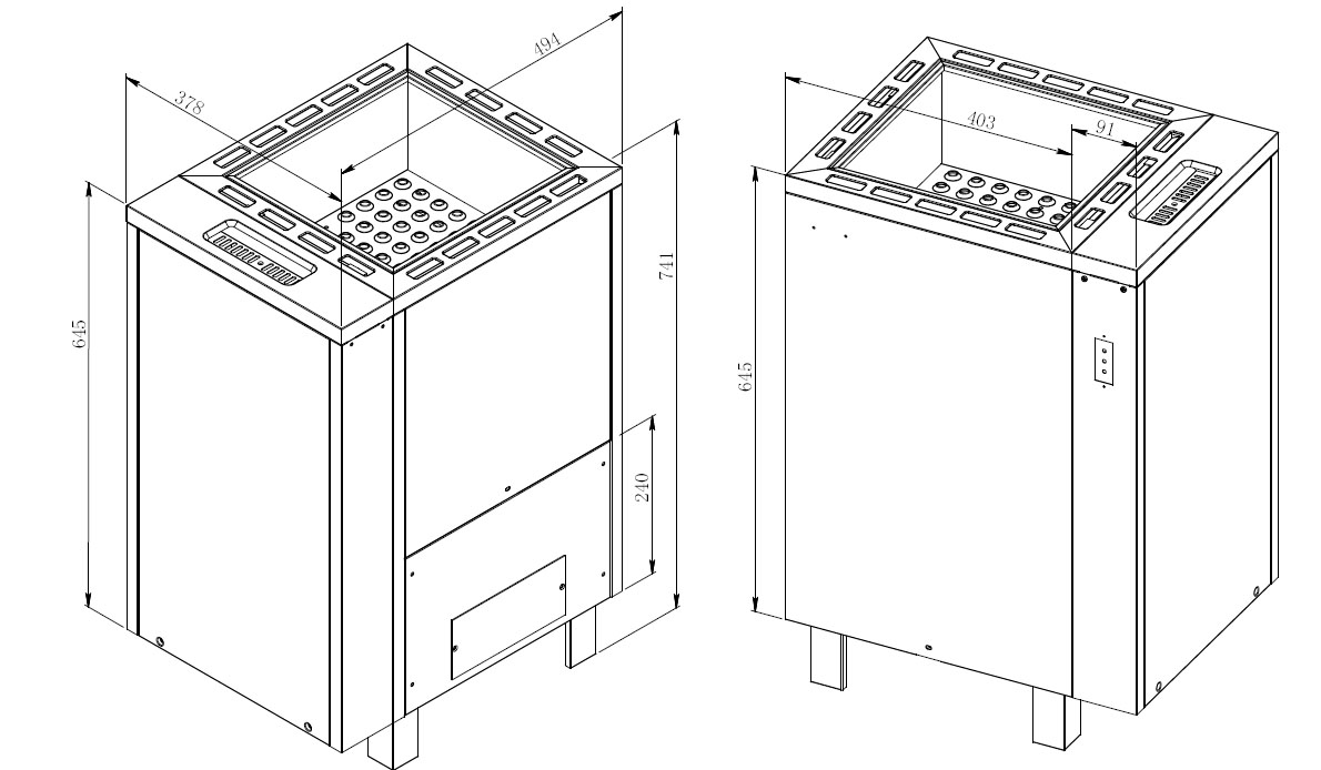 7.5kw Apollo Sauna Heater Optional