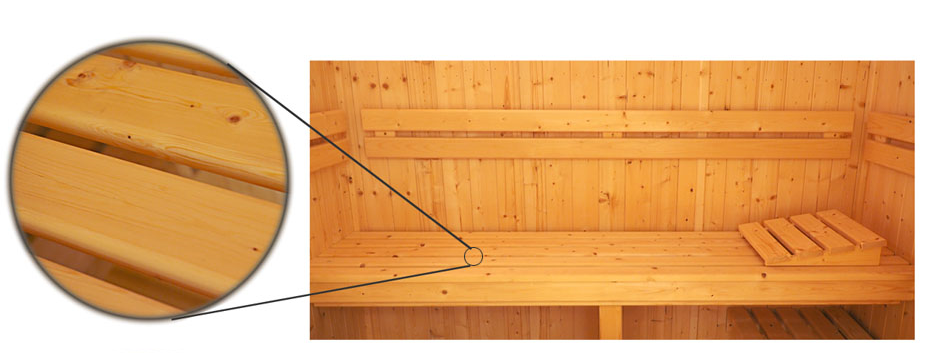 Oceanic Saunas Celebration Specification sauna interior