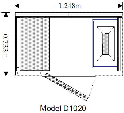 Oceanic Sauna D1020 Technical drawing