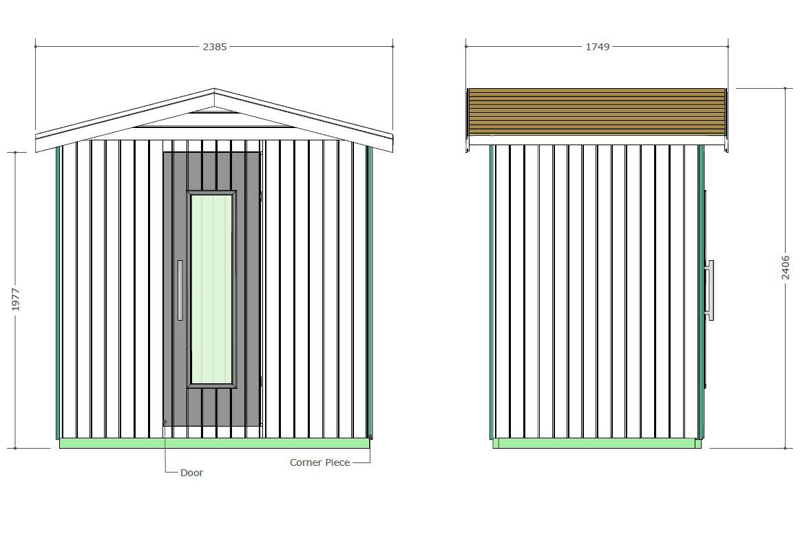 Sauna para el exterior Oceanic E2030 - Diseño técnico
