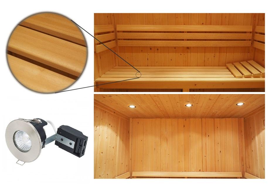 Oceanic Saunas Deluxe Specification sauna interior