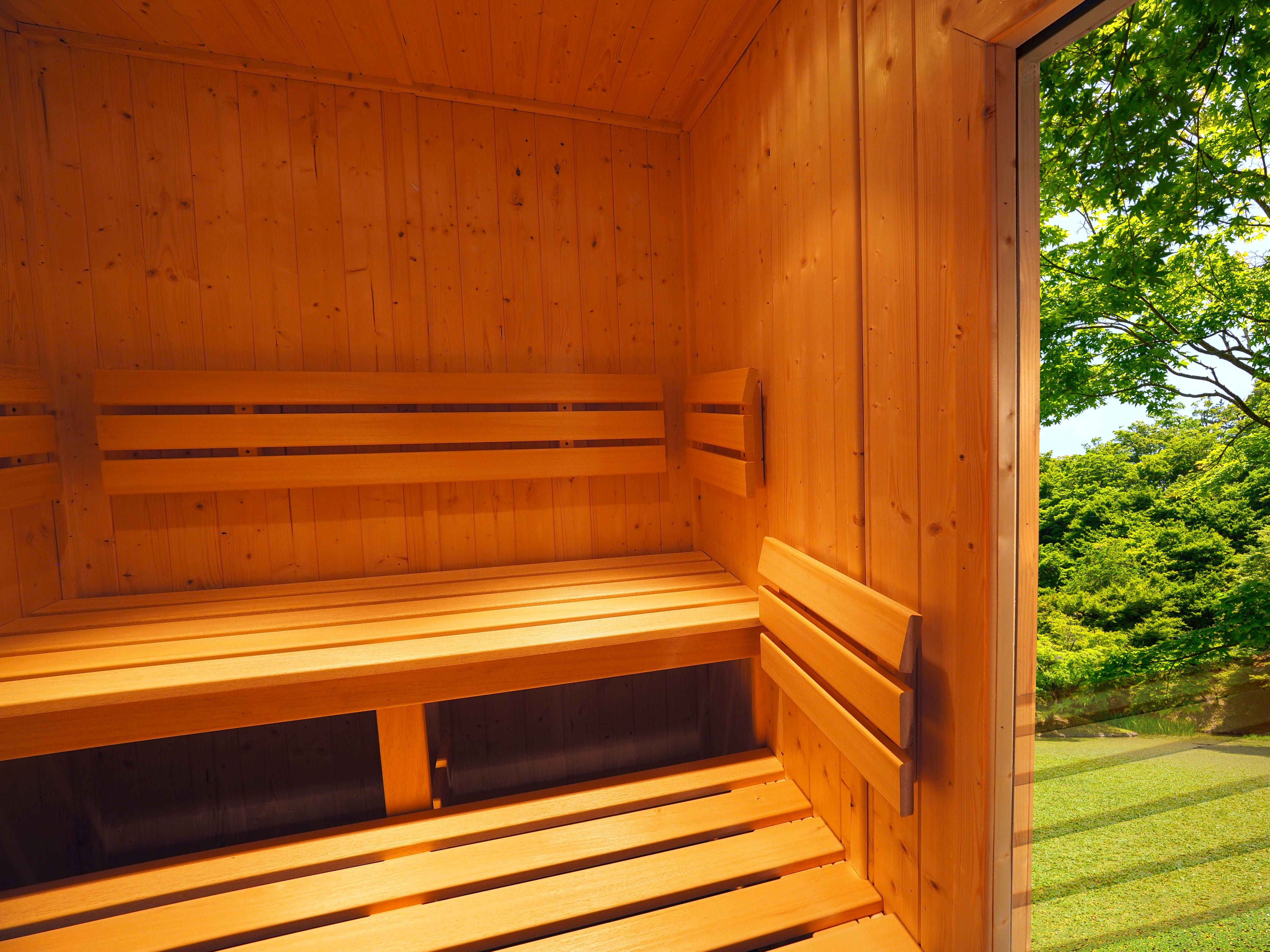Interior de la sauna de exterior Oceanic E2020